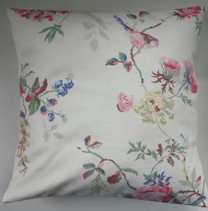 "Cushion Cover/Pillowcase Made in Cath Kidston Birds and Roses Chalk 14"" 16"" 18"" 20"""